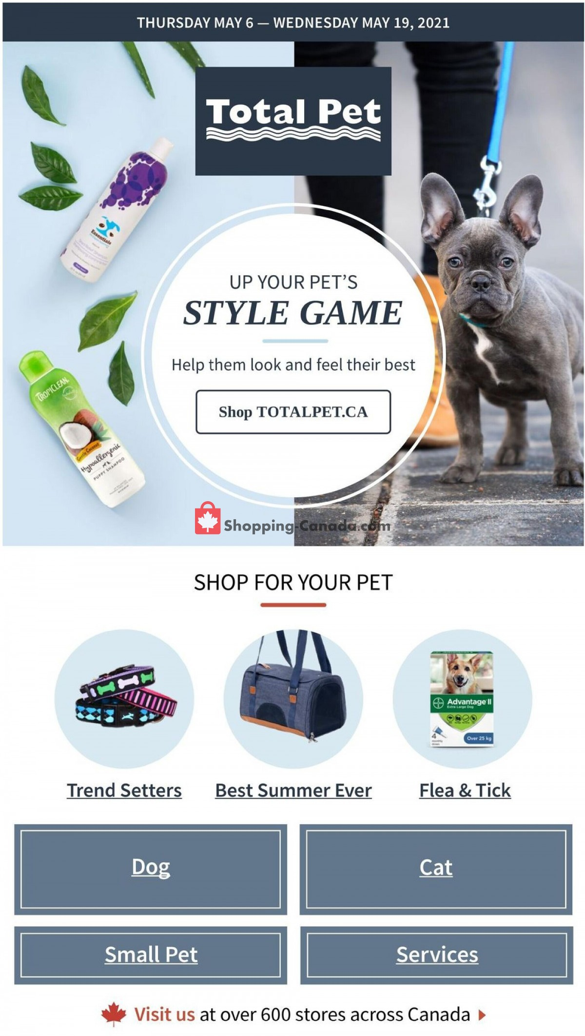 Flyer Total Pet Canada - from Thursday May 6, 2021 to Wednesday May 19, 2021