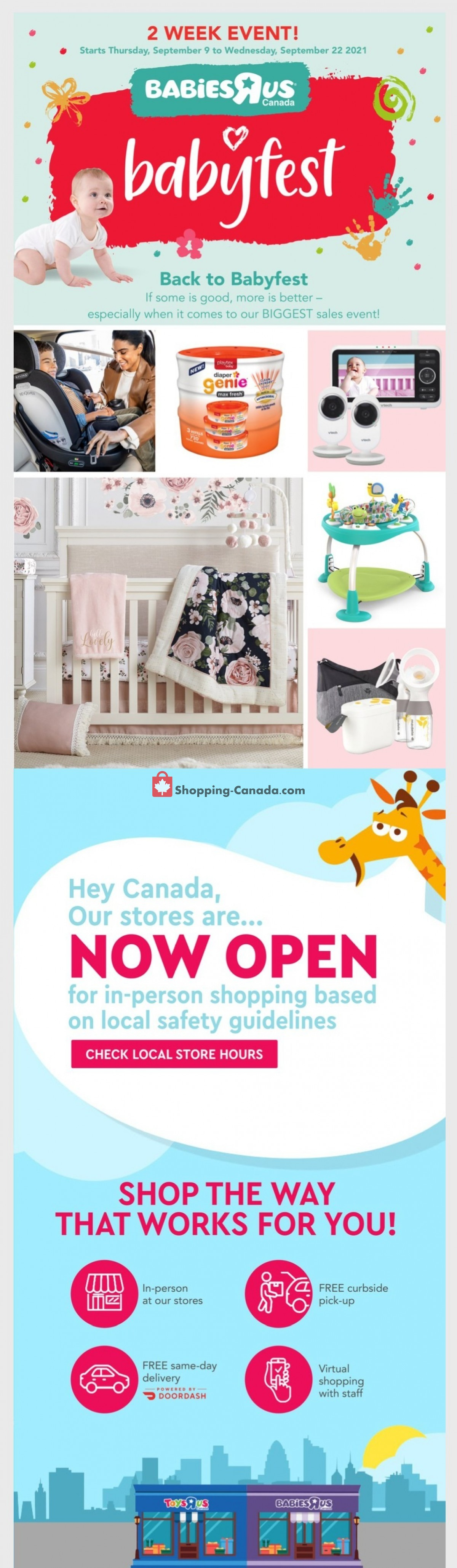 Flyer Toys R Us / Babies R Us Canada - from Thursday September 9, 2021 to Wednesday September 22, 2021