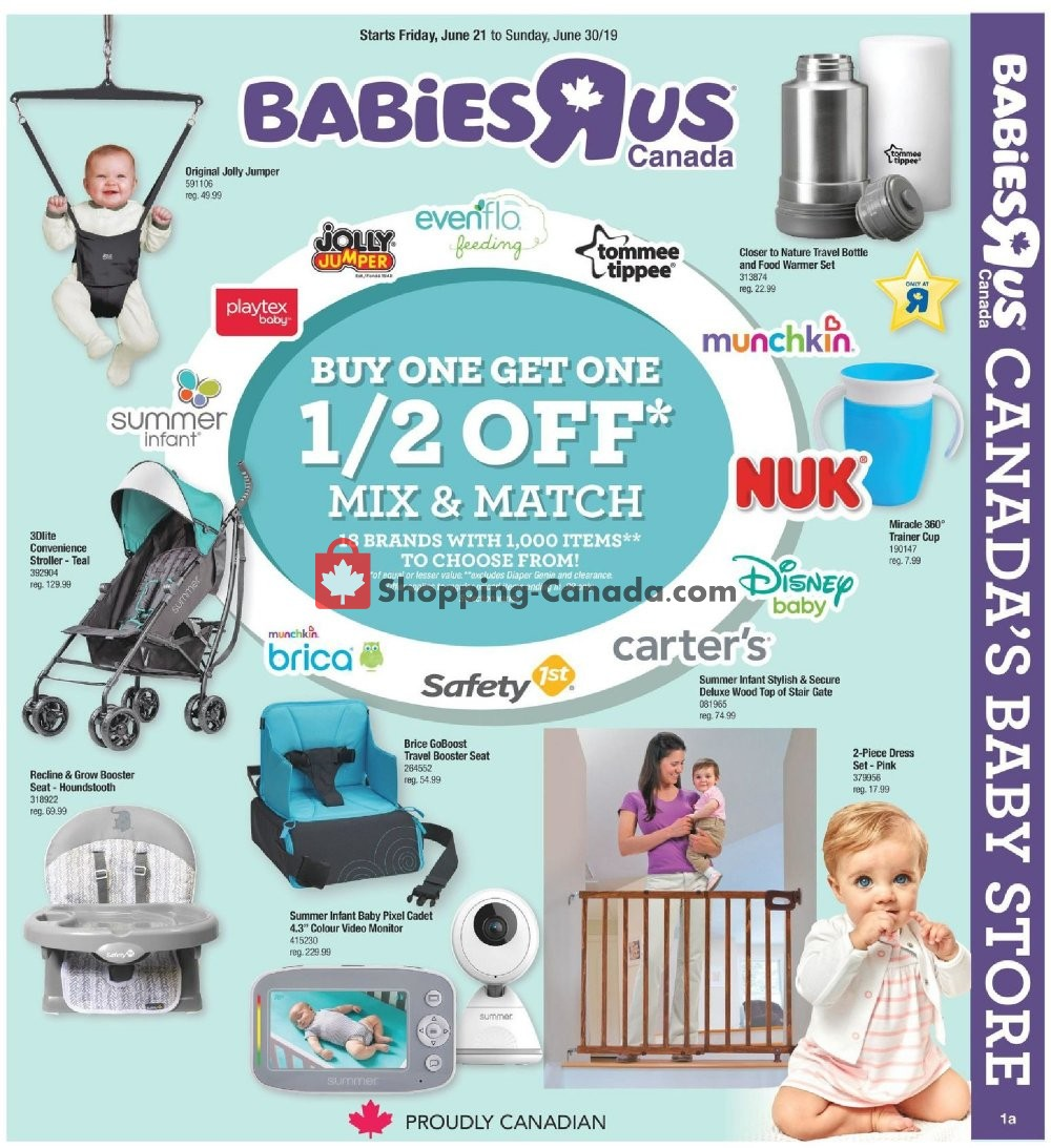 Flyer Toys R Us / Babies R Us Canada - from Friday June 21, 2019 to Sunday June 30, 2019