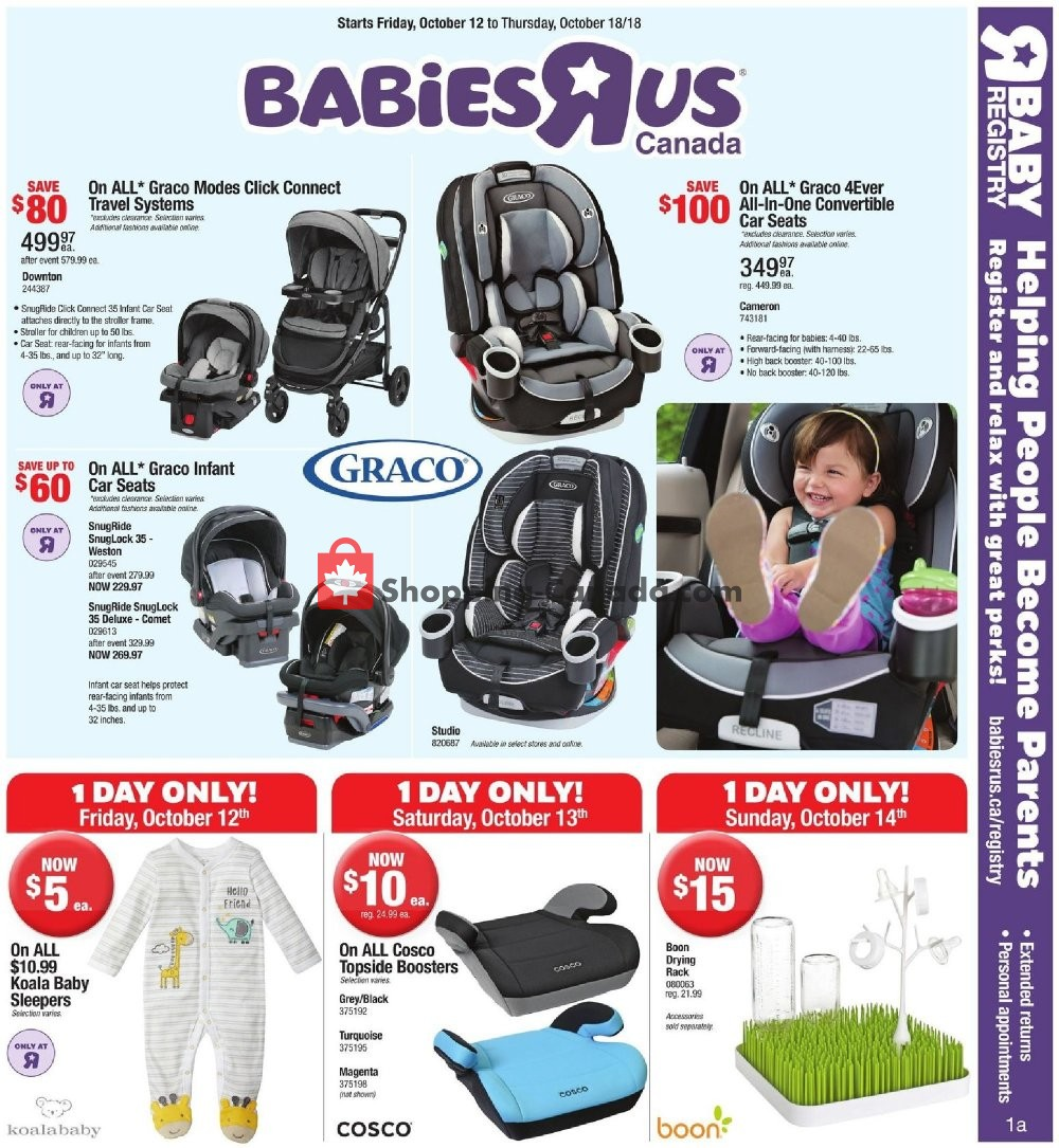 Flyer Toys R Us / Babies R Us Canada - from Friday October 12, 2018 to Thursday October 18, 2018