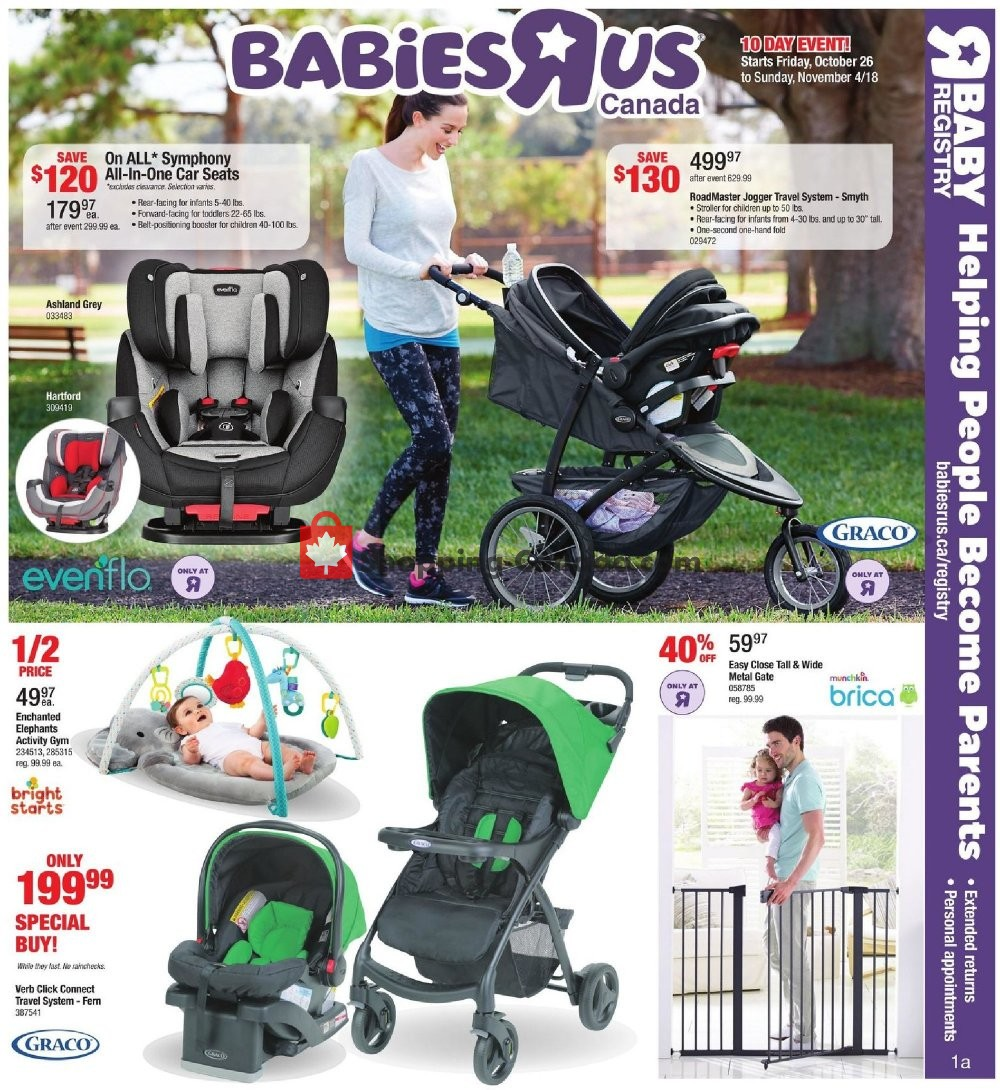 Flyer Toys R Us / Babies R Us Canada - from Friday October 26, 2018 to Sunday November 4, 2018