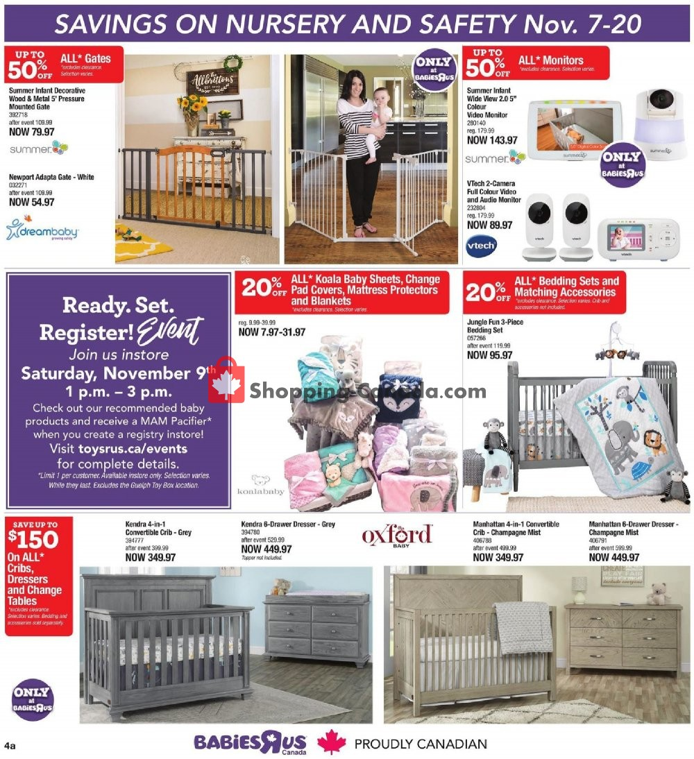 Flyer Toys R Us / Babies R Us Canada - from Thursday November 7, 2019 to Wednesday November 20, 2019