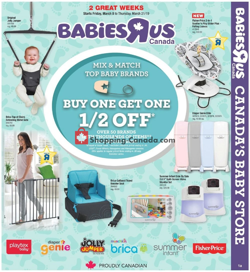 Flyer Toys R Us / Babies R Us Canada - from Friday March 8, 2019 to Thursday March 21, 2019