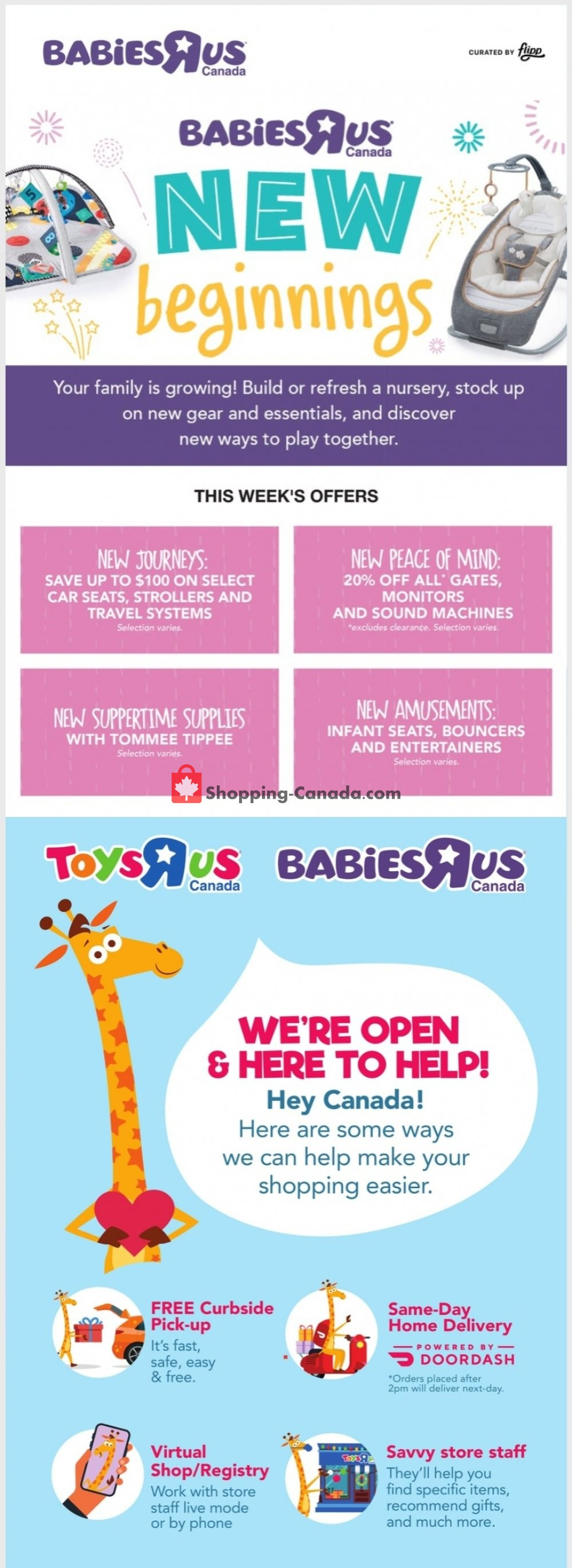 Flyer Toys R Us / Babies R Us Canada - from Thursday January 14, 2021 to Wednesday January 20, 2021