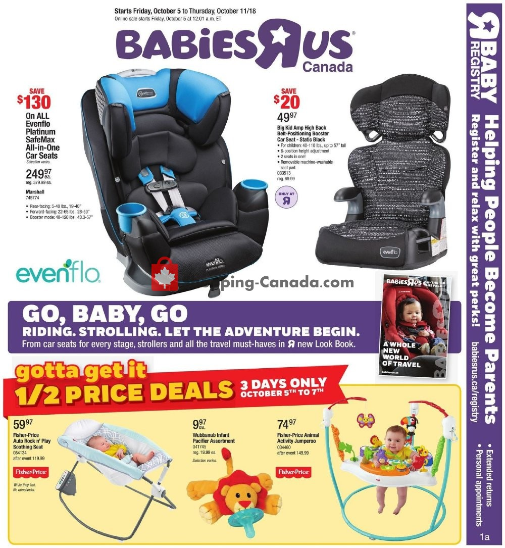 Flyer Toys R Us / Babies R Us Canada - from Friday October 5, 2018 to Thursday October 11, 2018