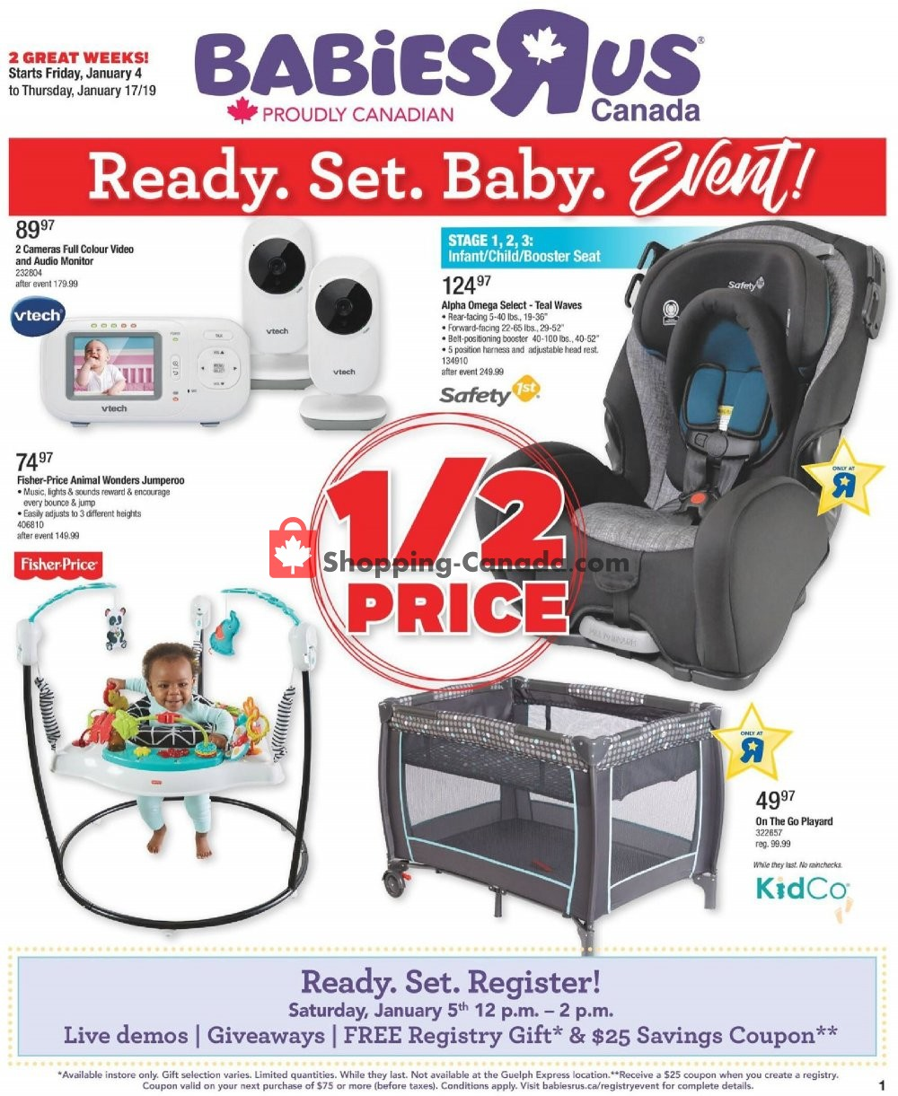 Toys R Us Babies R Us Canada Flyer Babies Ready Set Baby