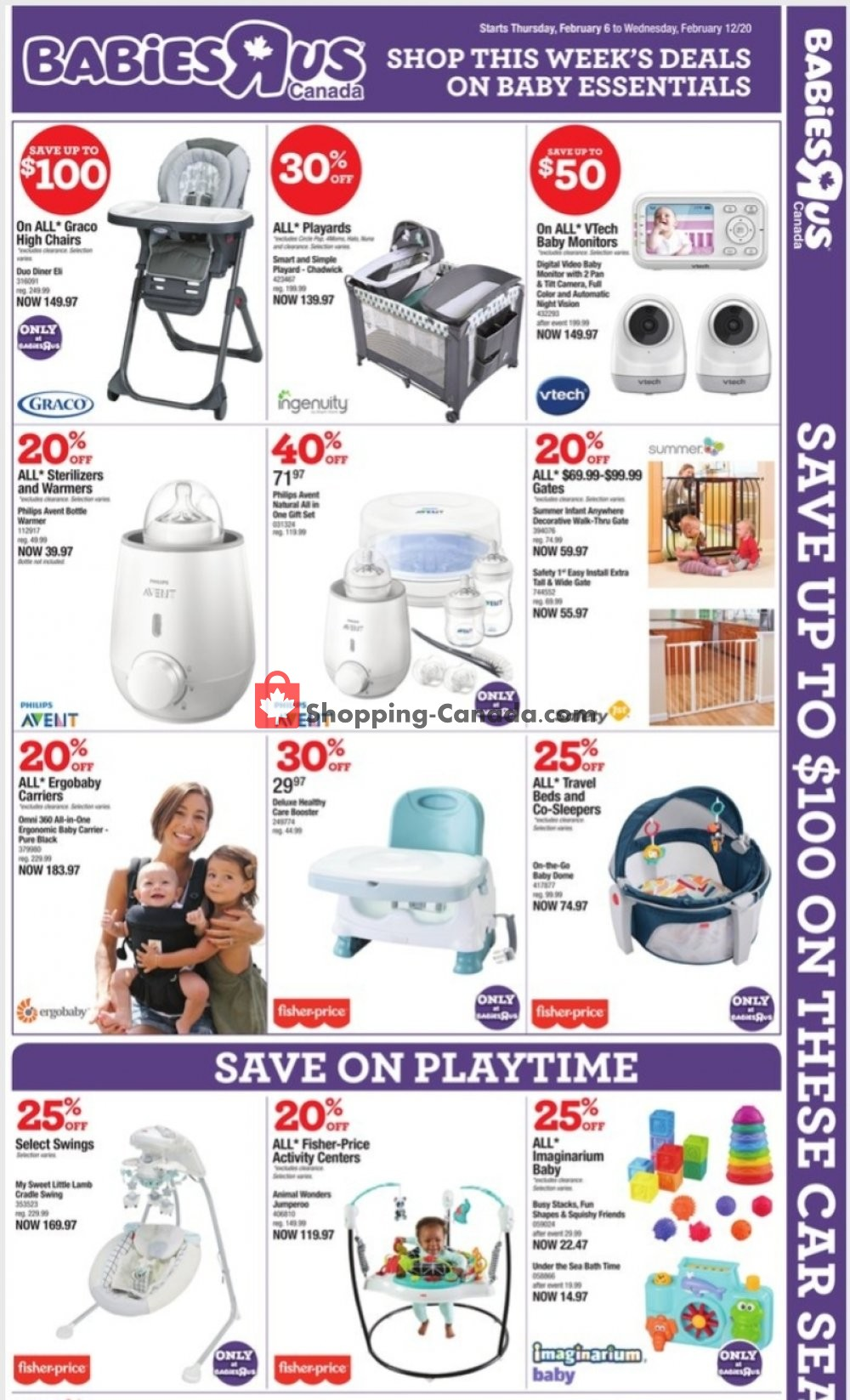 Flyer Toys R Us / Babies R Us Canada - from Thursday February 6, 2020 to Thursday February 13, 2020