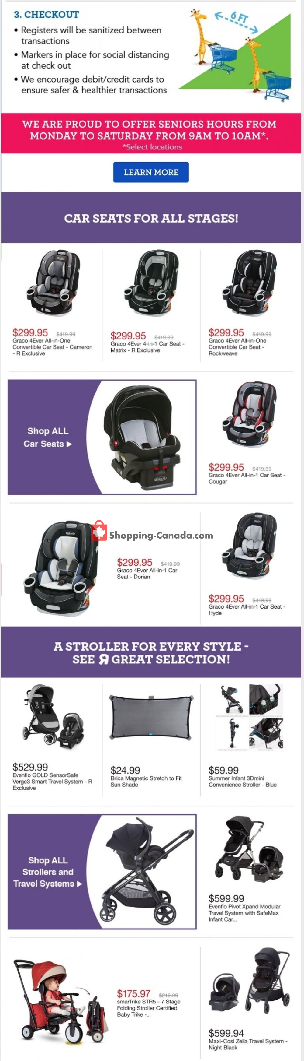 Flyer Toys R Us / Babies R Us Canada - from Wednesday July 29, 2020 to Wednesday August 5, 2020
