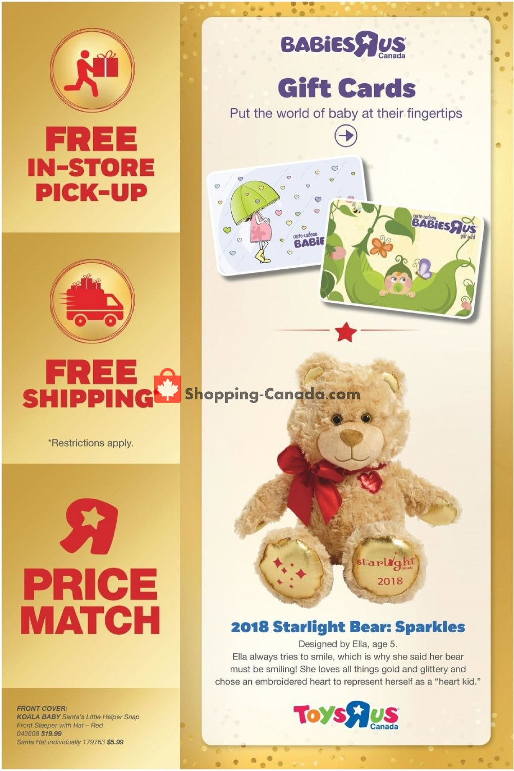 Toys R Us Babies R Us Canada Flyer Holiday Look Book November 2 December 31 2018 Shopping Canada