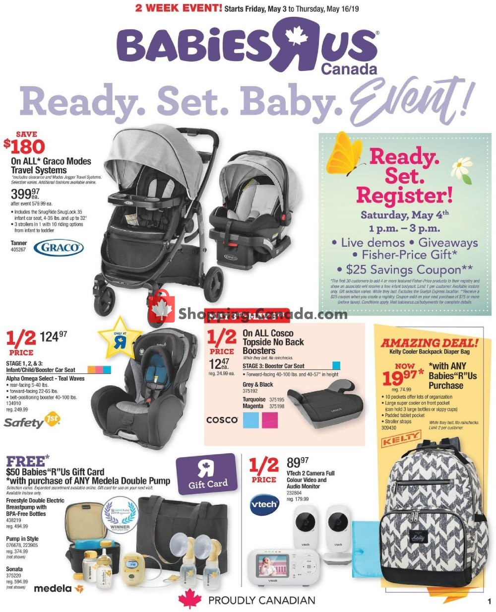 Flyer Toys R Us / Babies R Us Canada - from Friday May 3, 2019 to Thursday May 16, 2019