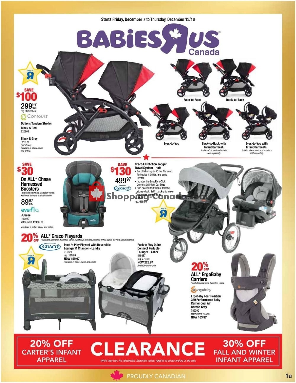 Flyer And Weekly Ads Toys R Us Babies R Us Canada