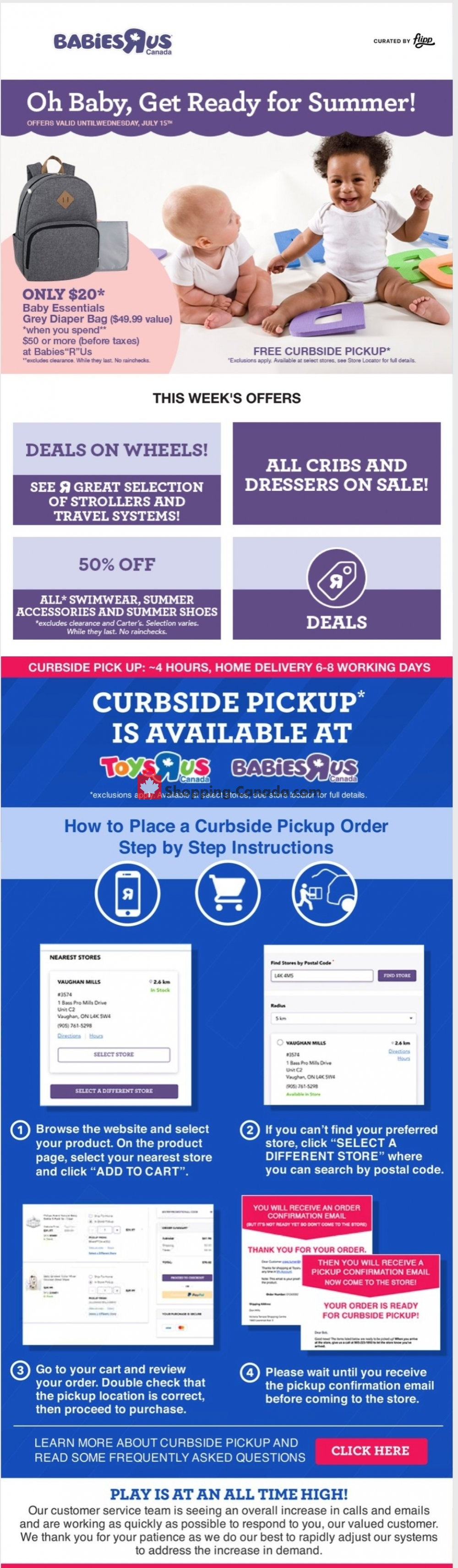 Flyer Toys R Us / Babies R Us Canada - from Thursday July 2, 2020 to Thursday July 9, 2020