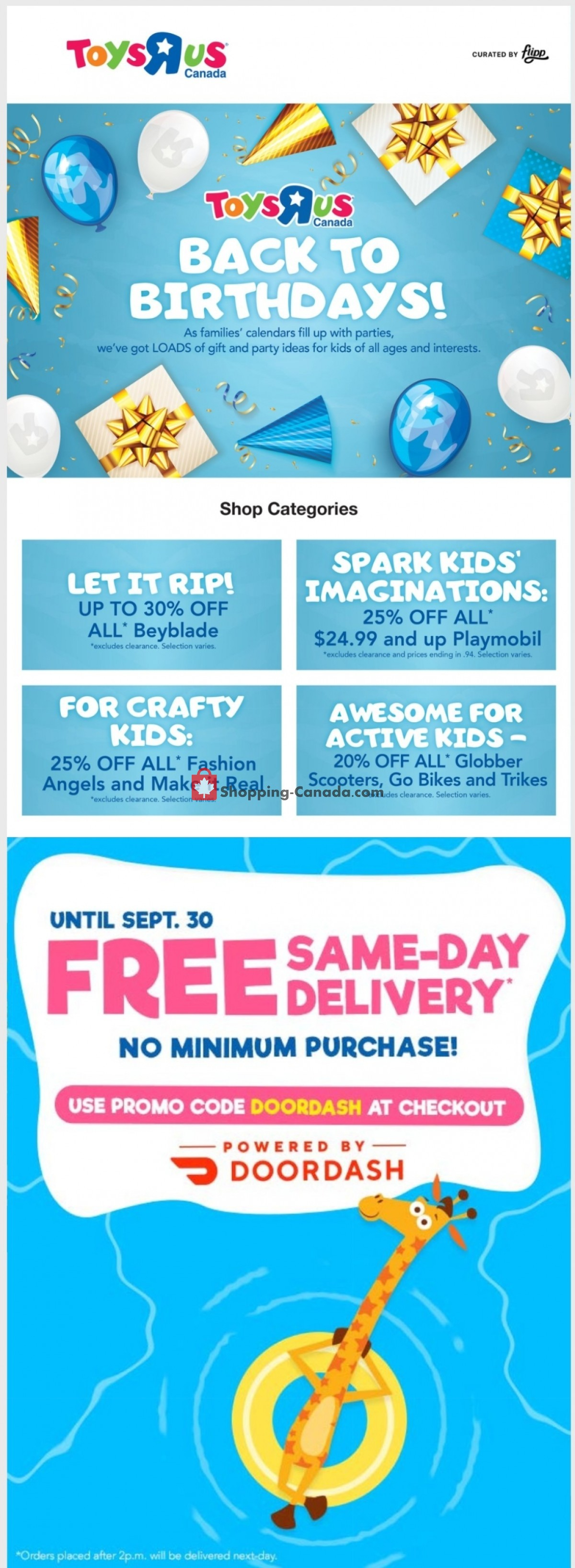 Flyer Toys R Us / Babies R Us Canada - from Thursday September 9, 2021 to Wednesday September 15, 2021