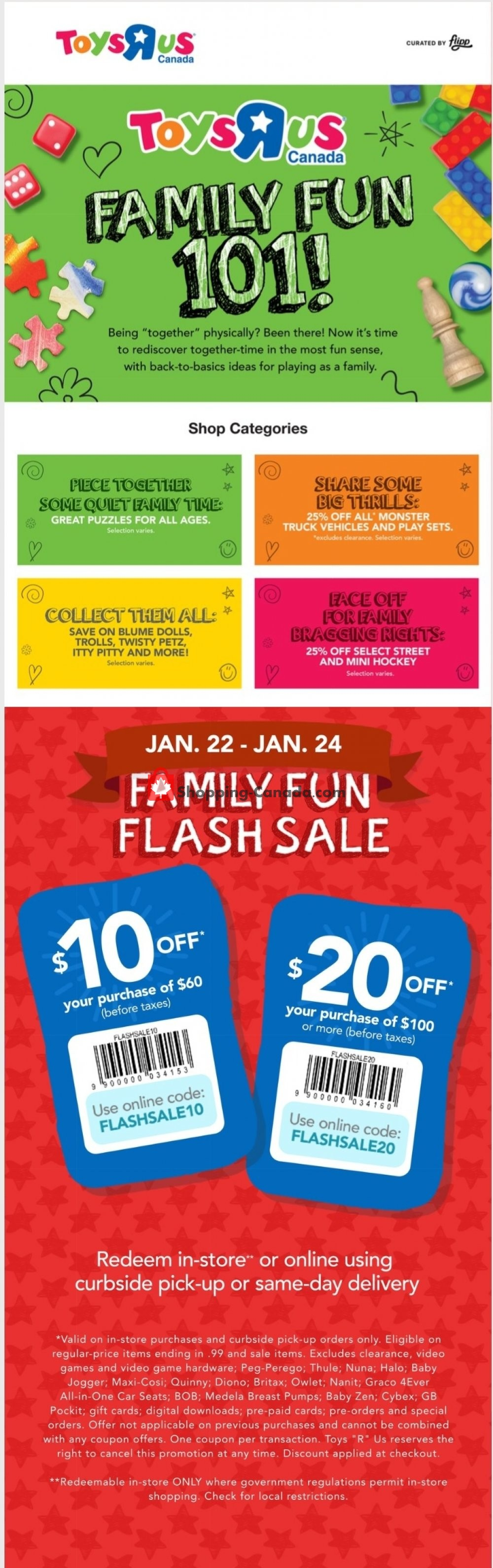 Flyer Toys R Us / Babies R Us Canada - from Thursday January 21, 2021 to Wednesday January 27, 2021