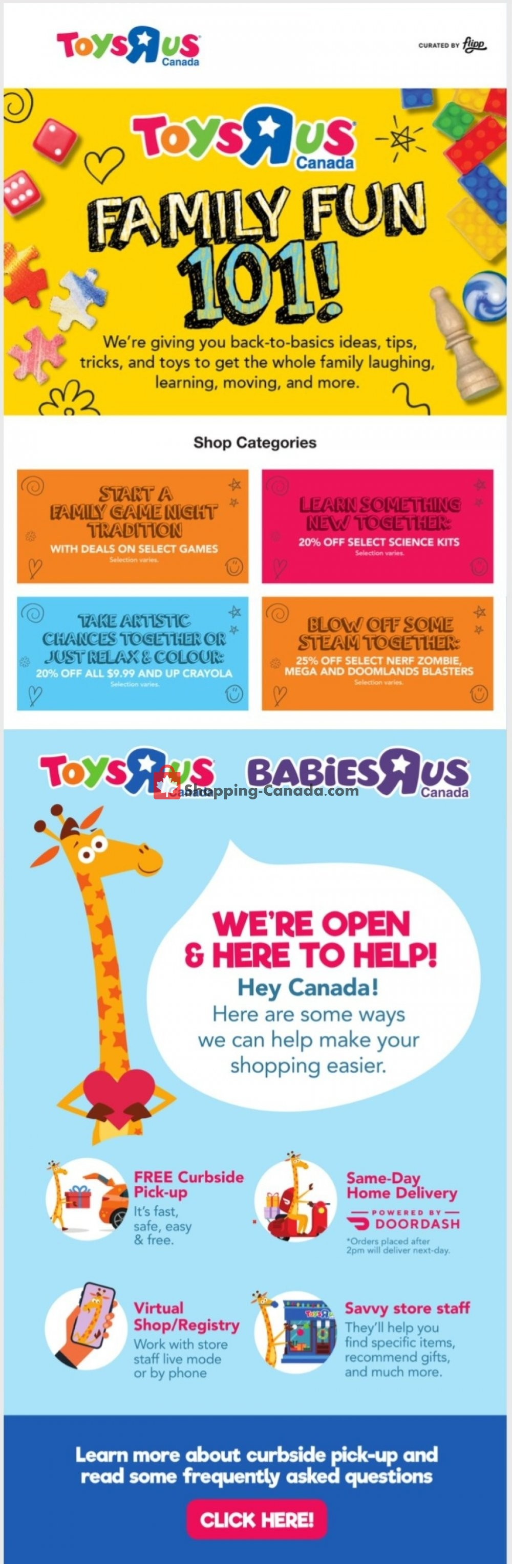 Flyer Toys R Us / Babies R Us Canada - from Thursday January 7, 2021 to Wednesday January 13, 2021