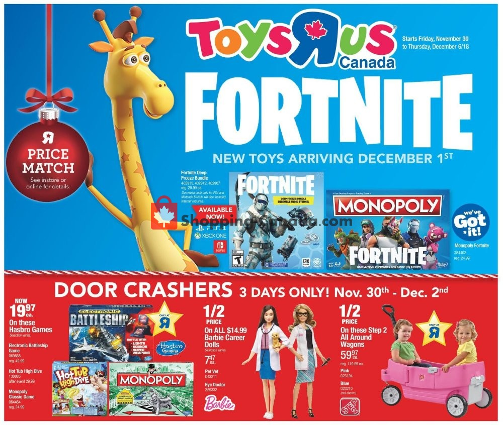 Flyer And Weekly Ads Toys R Us Babies R Us Canada Toys