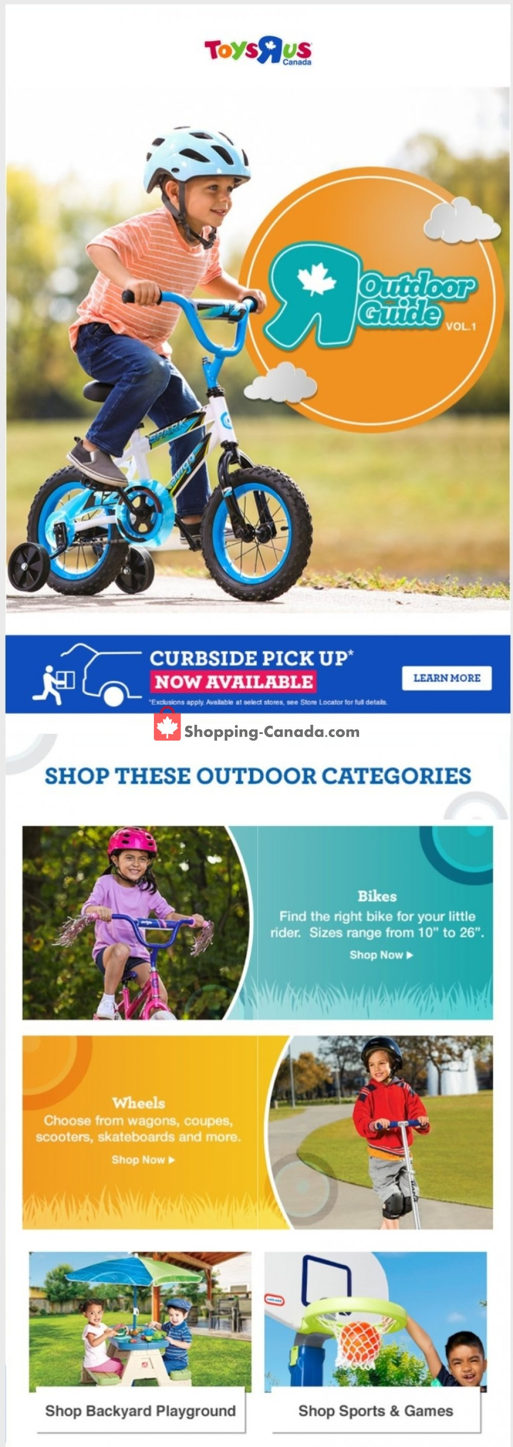Flyer Toys R Us / Babies R Us Canada - from Thursday April 16, 2020 to Thursday April 23, 2020