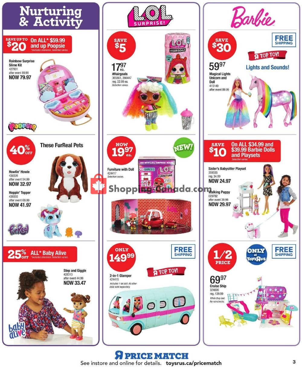 Flyer Toys R Us / Babies R Us Canada - from Thursday November 7, 2019 to Wednesday November 13, 2019