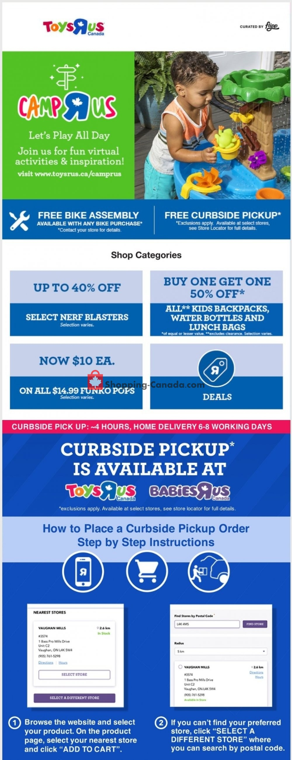 Flyer Toys R Us / Babies R Us Canada - from Thursday August 6, 2020 to Thursday August 13, 2020