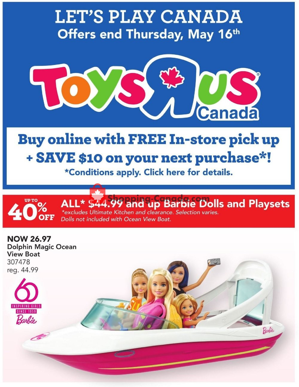 Flyer Toys R Us / Babies R Us Canada - from Wednesday May 8, 2019 to Thursday May 16, 2019