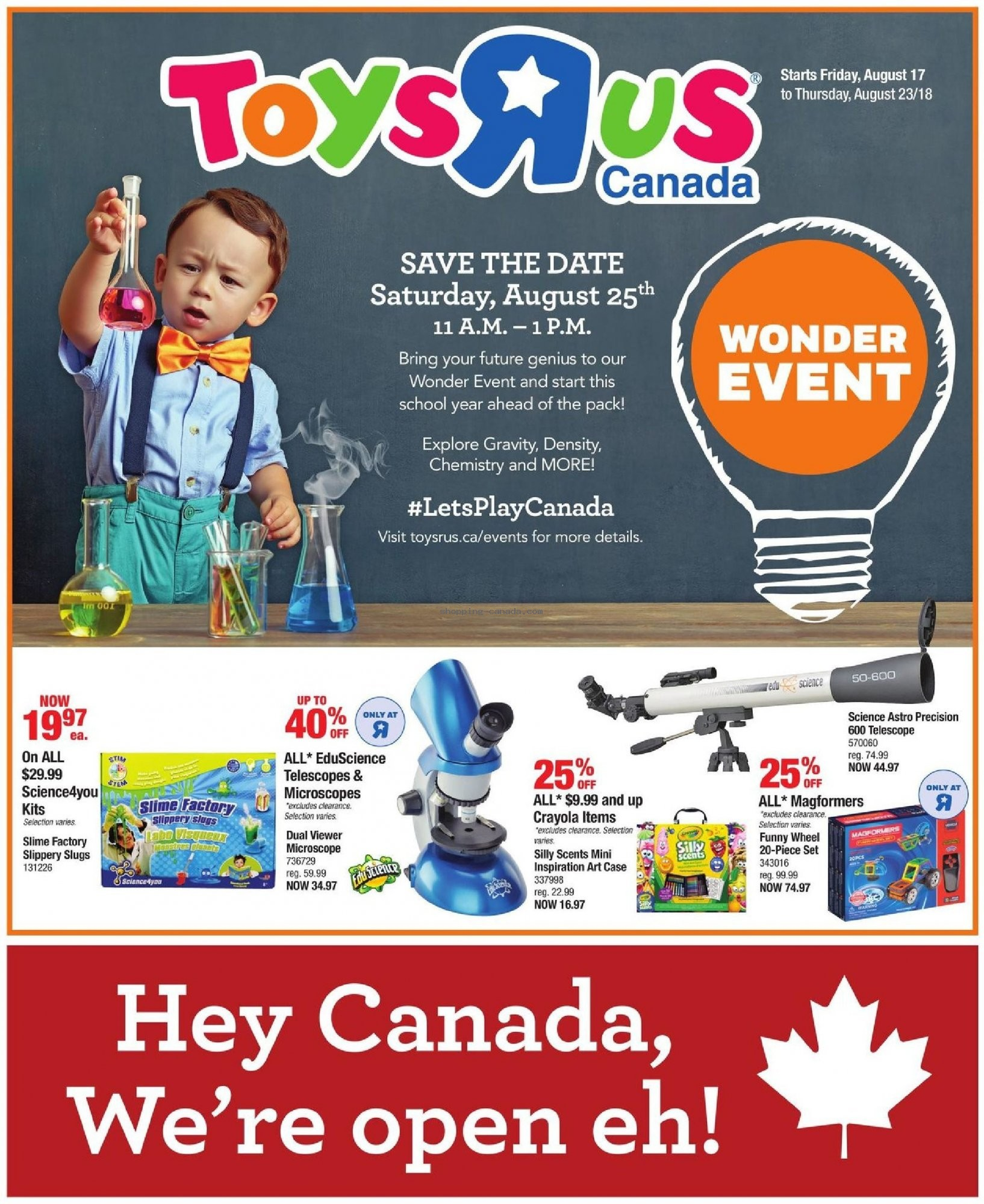 Flyer and weekly ads: Toys R Us / Babies R Us Canada - (Toys