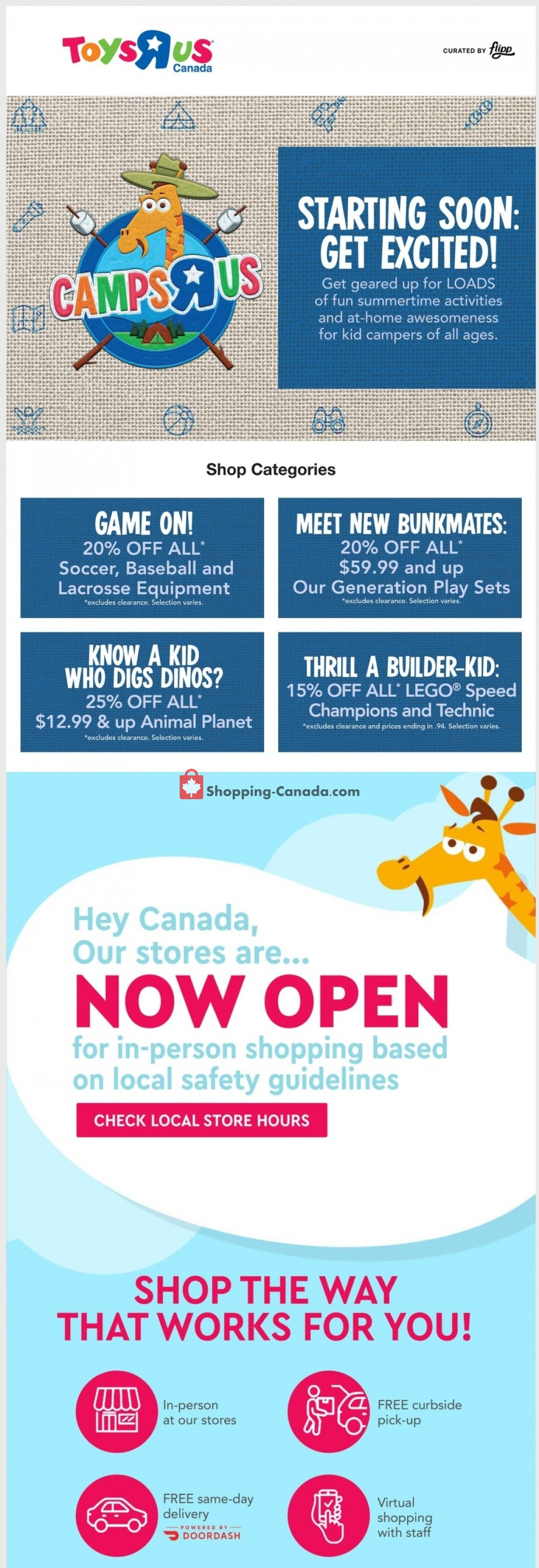 Flyer Toys R Us / Babies R Us Canada - from Thursday July 8, 2021 to Wednesday July 14, 2021