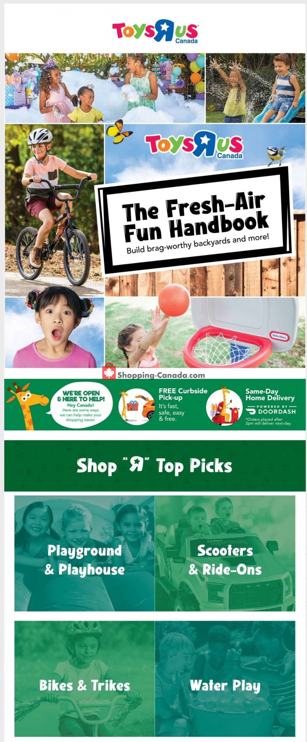 Flyer Toys R Us / Babies R Us Canada - from Thursday June 3, 2021 to Wednesday June 9, 2021