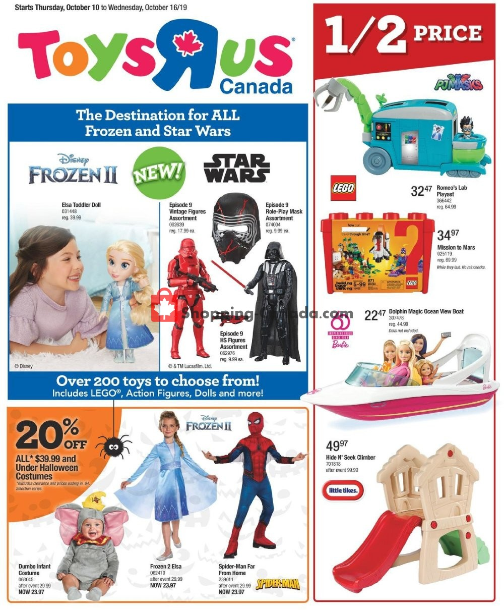 Flyer Toys R Us / Babies R Us Canada - from Thursday October 10, 2019 to Wednesday October 16, 2019