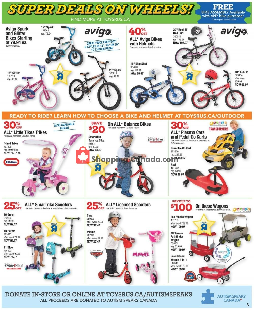 Flyer Toys R Us / Babies R Us Canada - from Tuesday April 23, 2019 to Thursday May 2, 2019