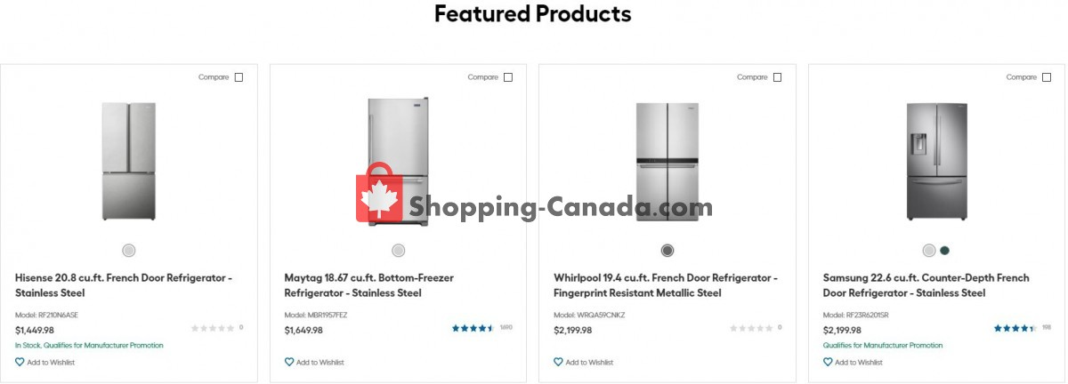 Flyer Trail Appliances Canada - from Tuesday September 7, 2021 to Monday September 13, 2021