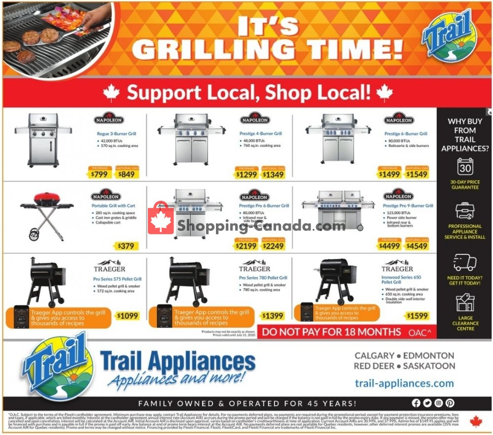 Flyer Trail Appliances Canada - from Sunday July 5, 2020 to Sunday July 19, 2020