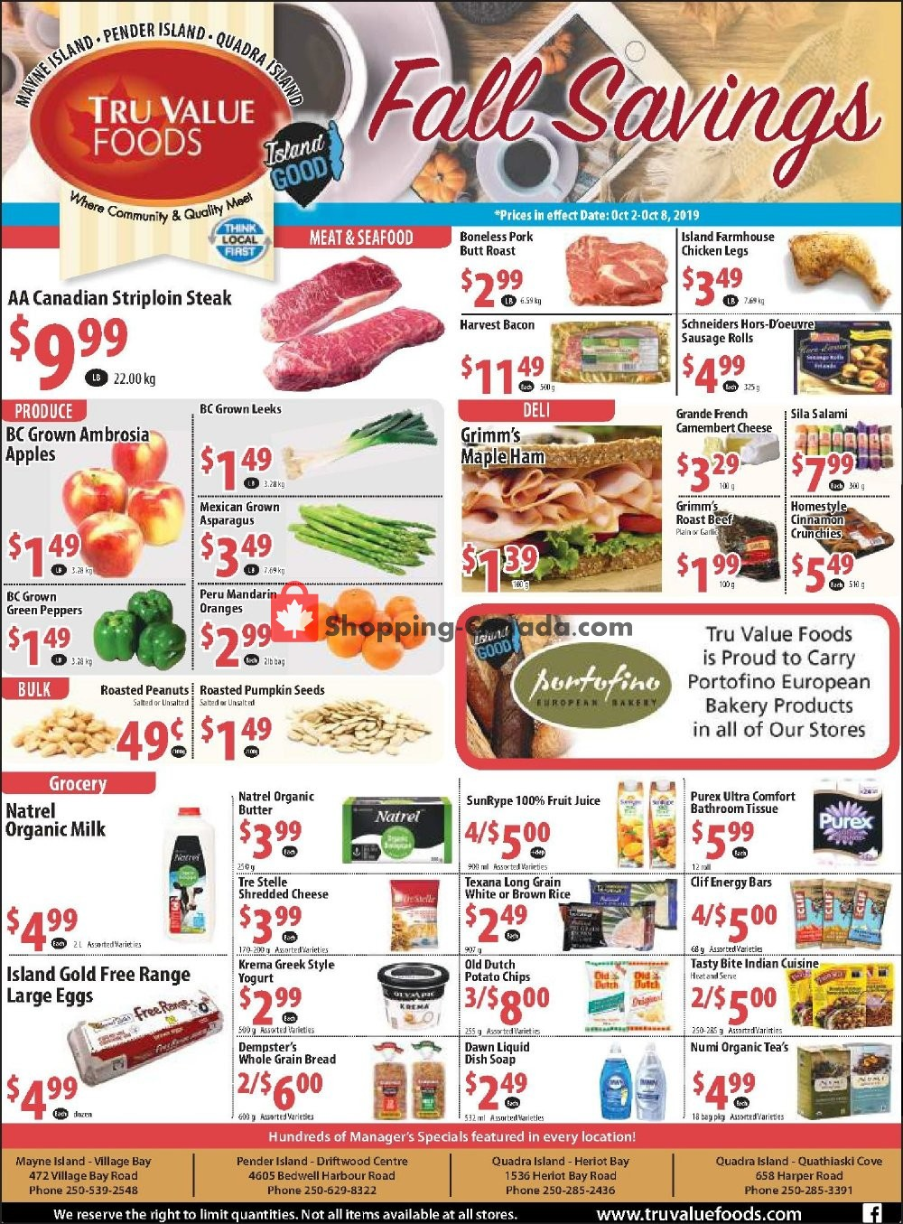 Flyer Tru Value Foods Canada - from Wednesday October 2, 2019 to Tuesday October 8, 2019