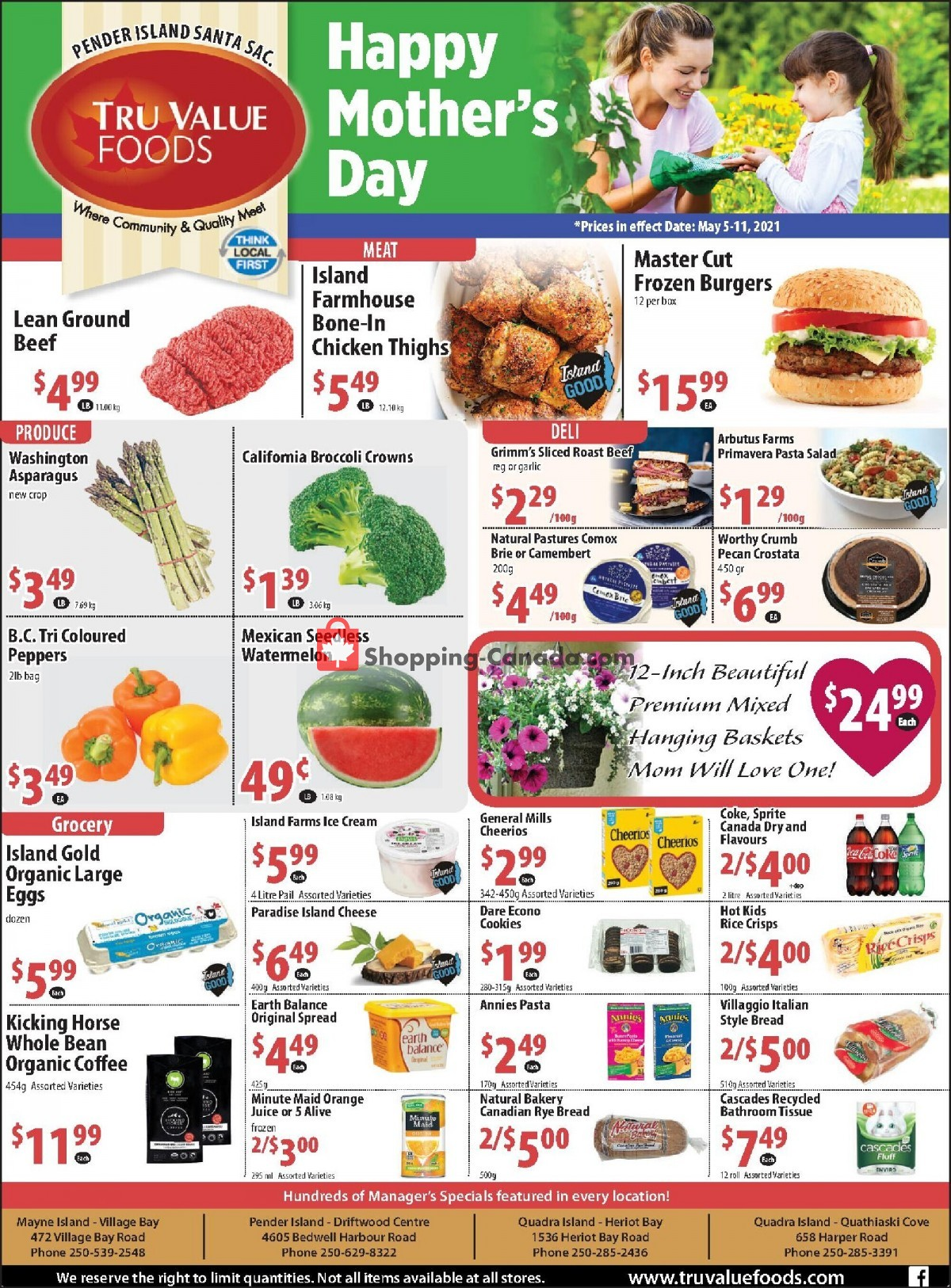 Flyer Tru Value Foods Canada - from Wednesday May 5, 2021 to Tuesday May 11, 2021