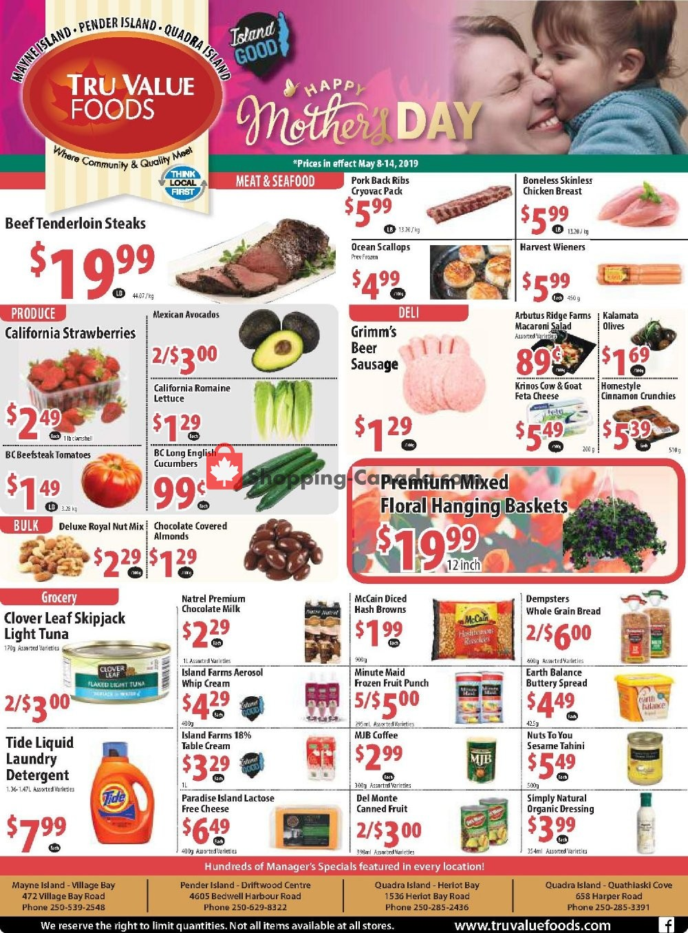 Flyer Tru Value Foods Canada - from Wednesday May 8, 2019 to Tuesday May 14, 2019