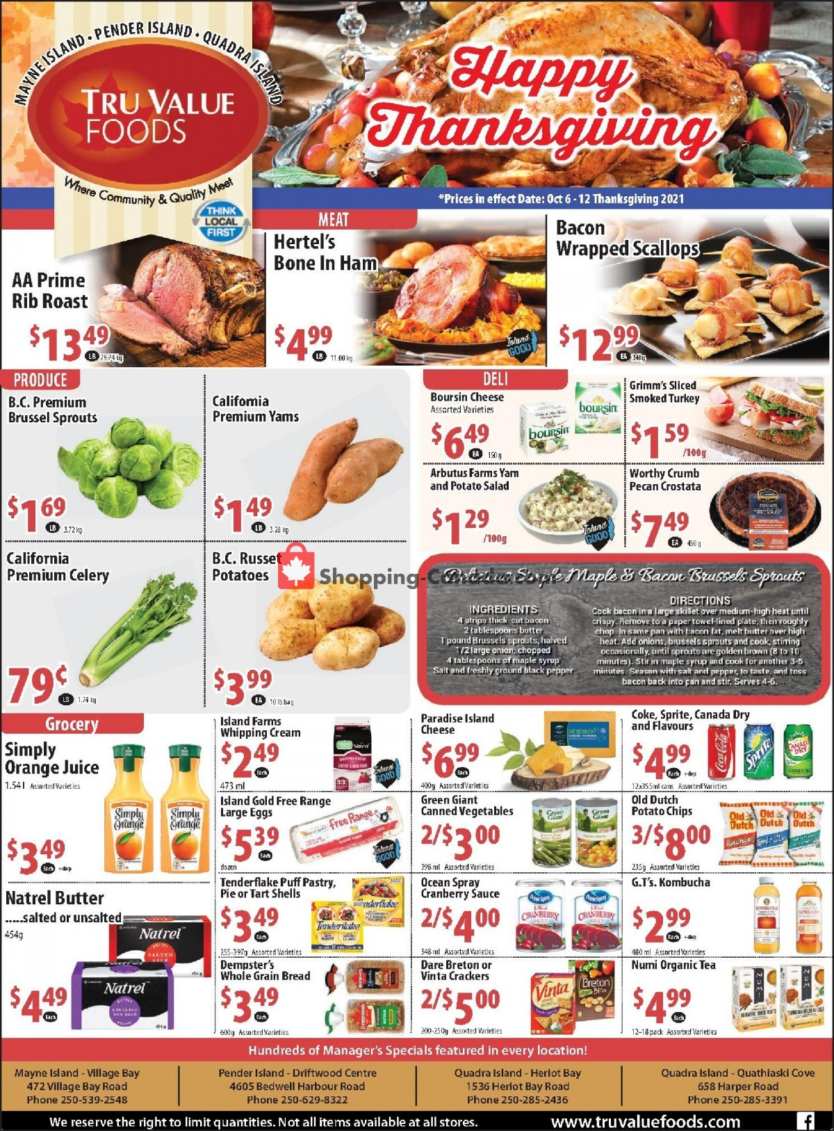 Flyer Tru Value Foods Canada - from Wednesday October 6, 2021 to Tuesday October 12, 2021