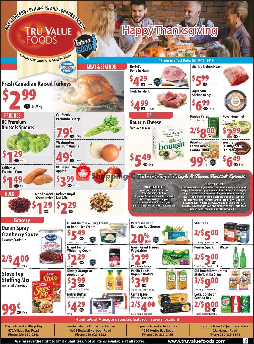 Flyer Tru Value Foods Canada - from Wednesday October 9, 2019 to Tuesday October 15, 2019
