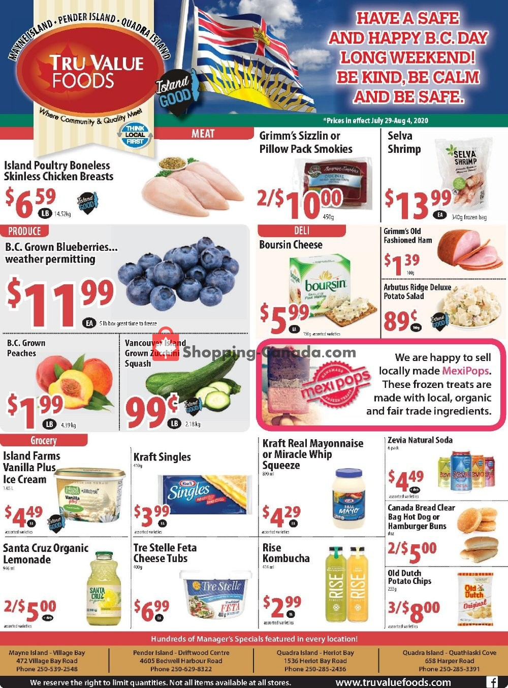 Flyer Tru Value Foods Canada - from Wednesday July 29, 2020 to Tuesday August 4, 2020