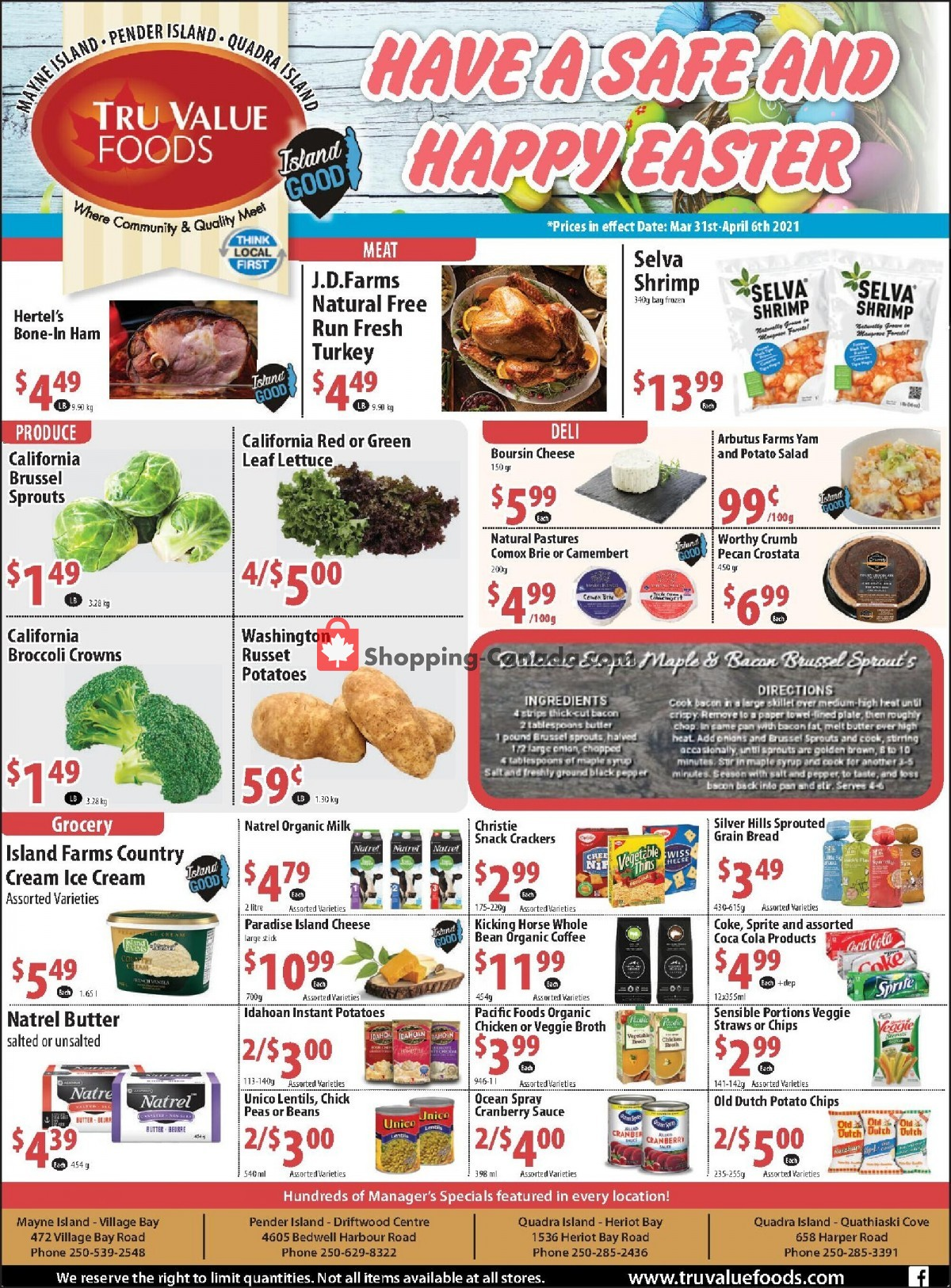 Flyer Tru Value Foods Canada - from Wednesday March 31, 2021 to Tuesday April 6, 2021