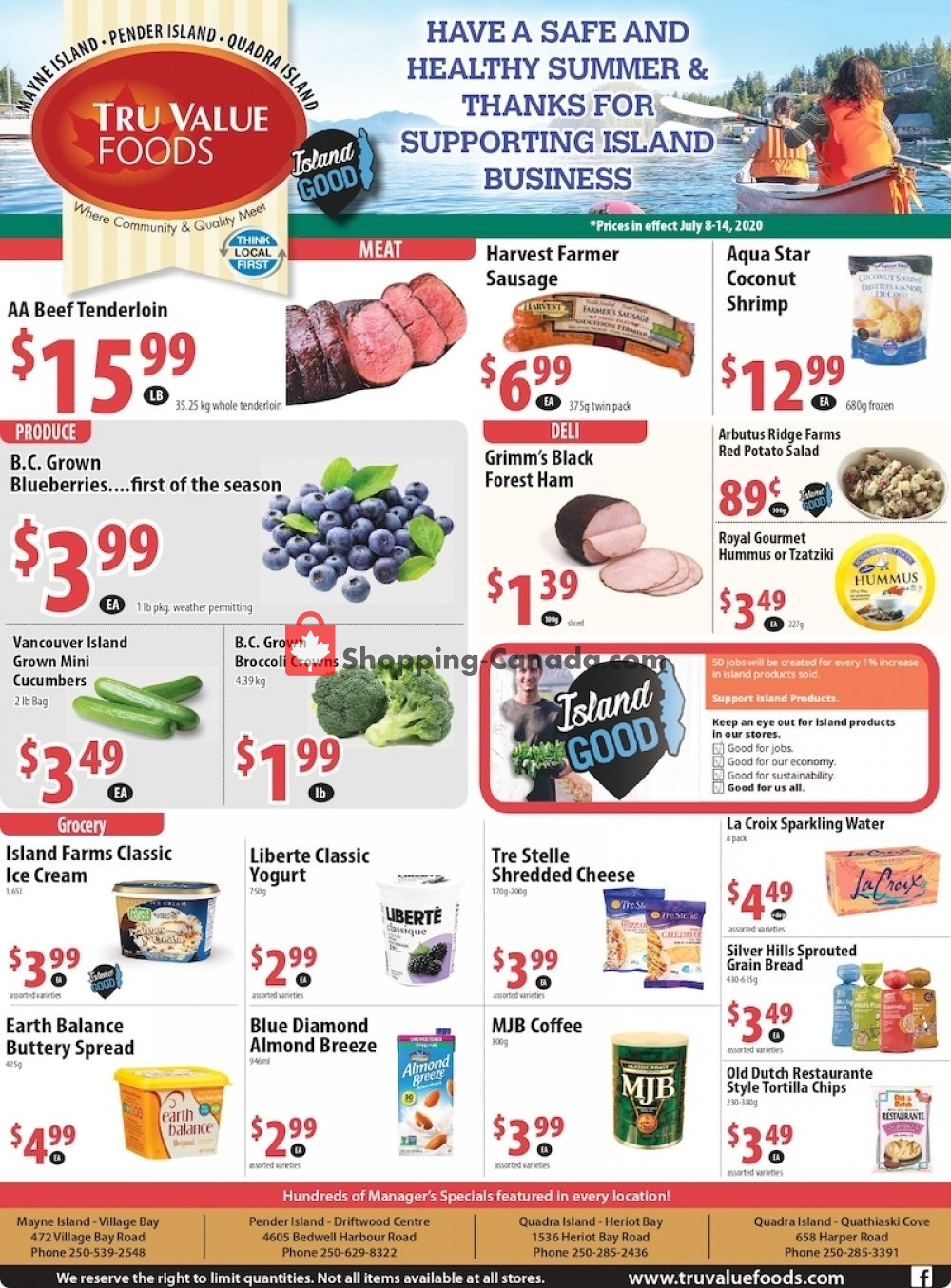 Flyer Tru Value Foods Canada - from Wednesday July 8, 2020 to Tuesday July 14, 2020