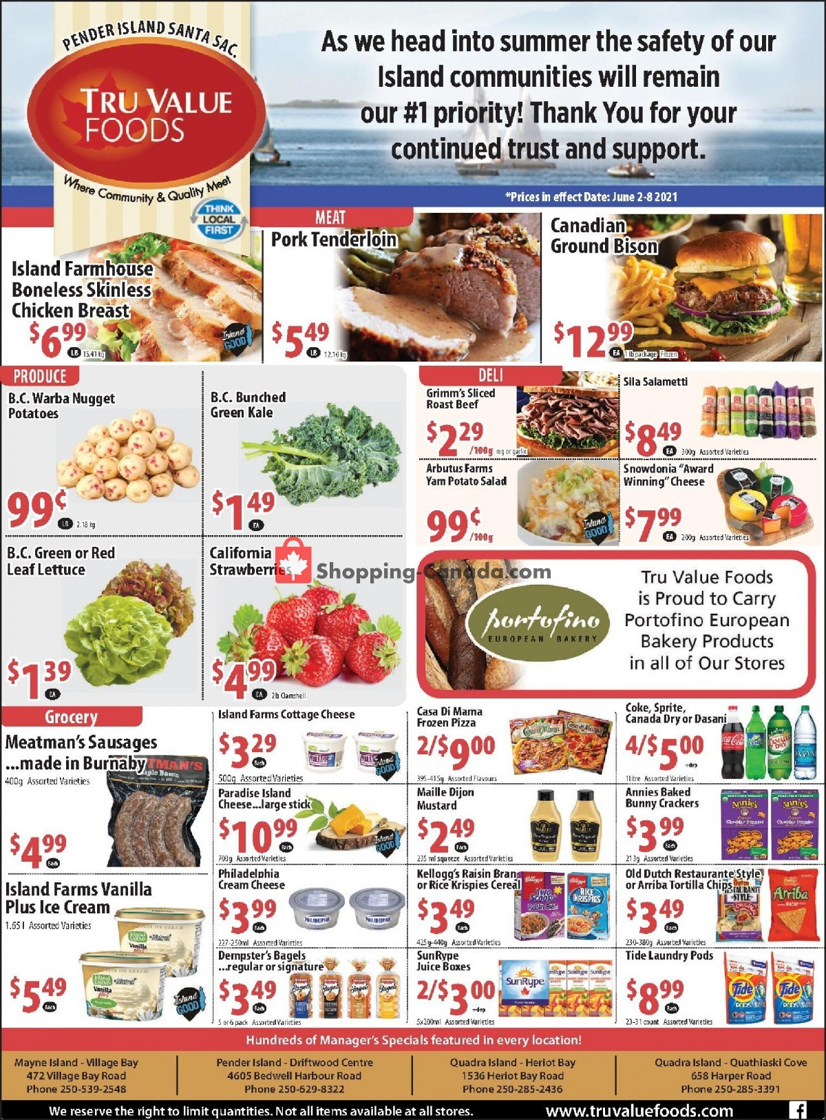 Flyer Tru Value Foods Canada - from Wednesday June 2, 2021 to Tuesday June 8, 2021