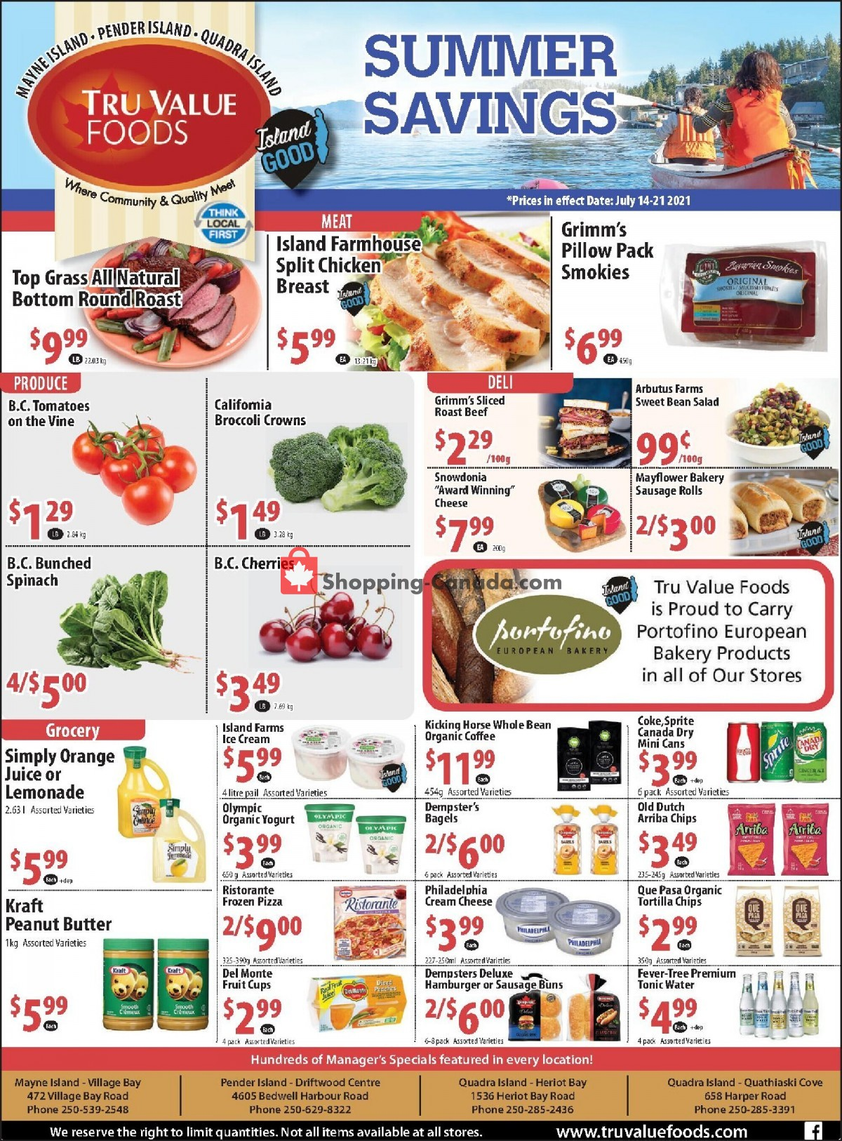 Flyer Tru Value Foods Canada - from Wednesday July 14, 2021 to Tuesday July 20, 2021