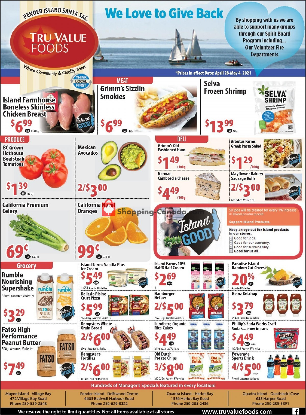 Flyer Tru Value Foods Canada - from Wednesday April 28, 2021 to Tuesday May 4, 2021