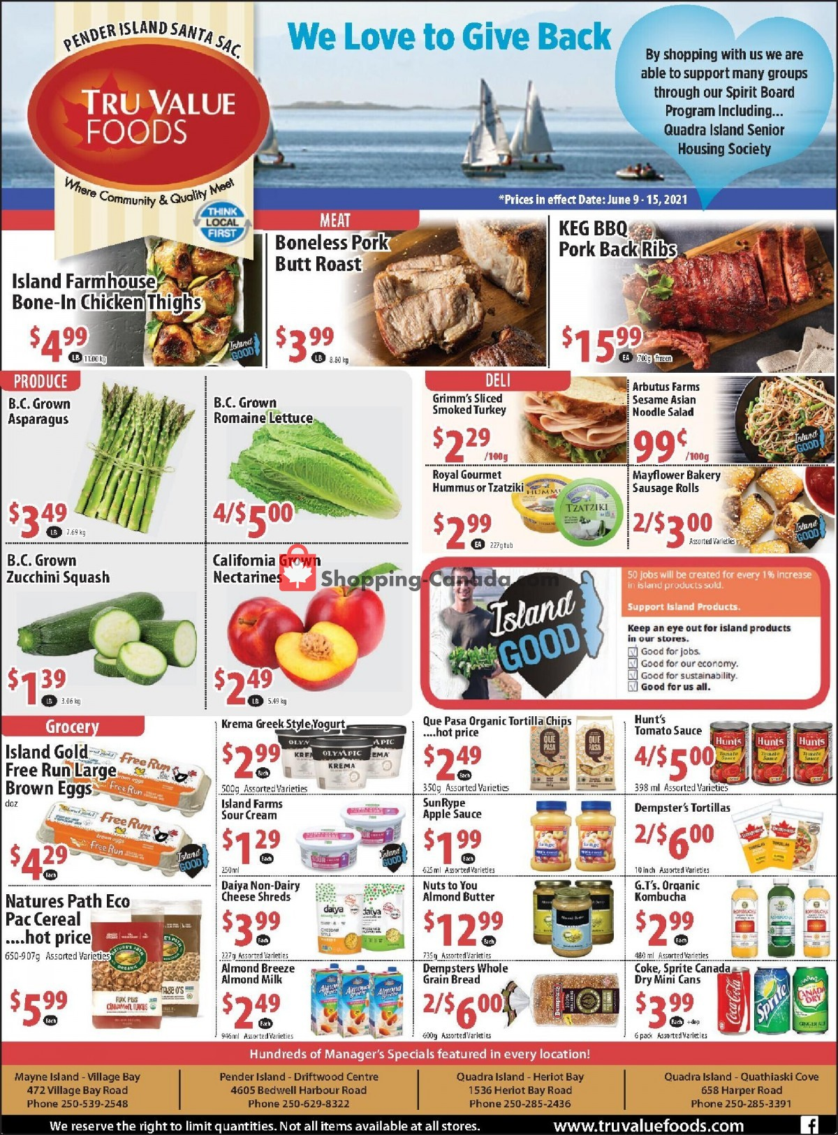 Flyer Tru Value Foods Canada - from Wednesday June 9, 2021 to Tuesday June 15, 2021