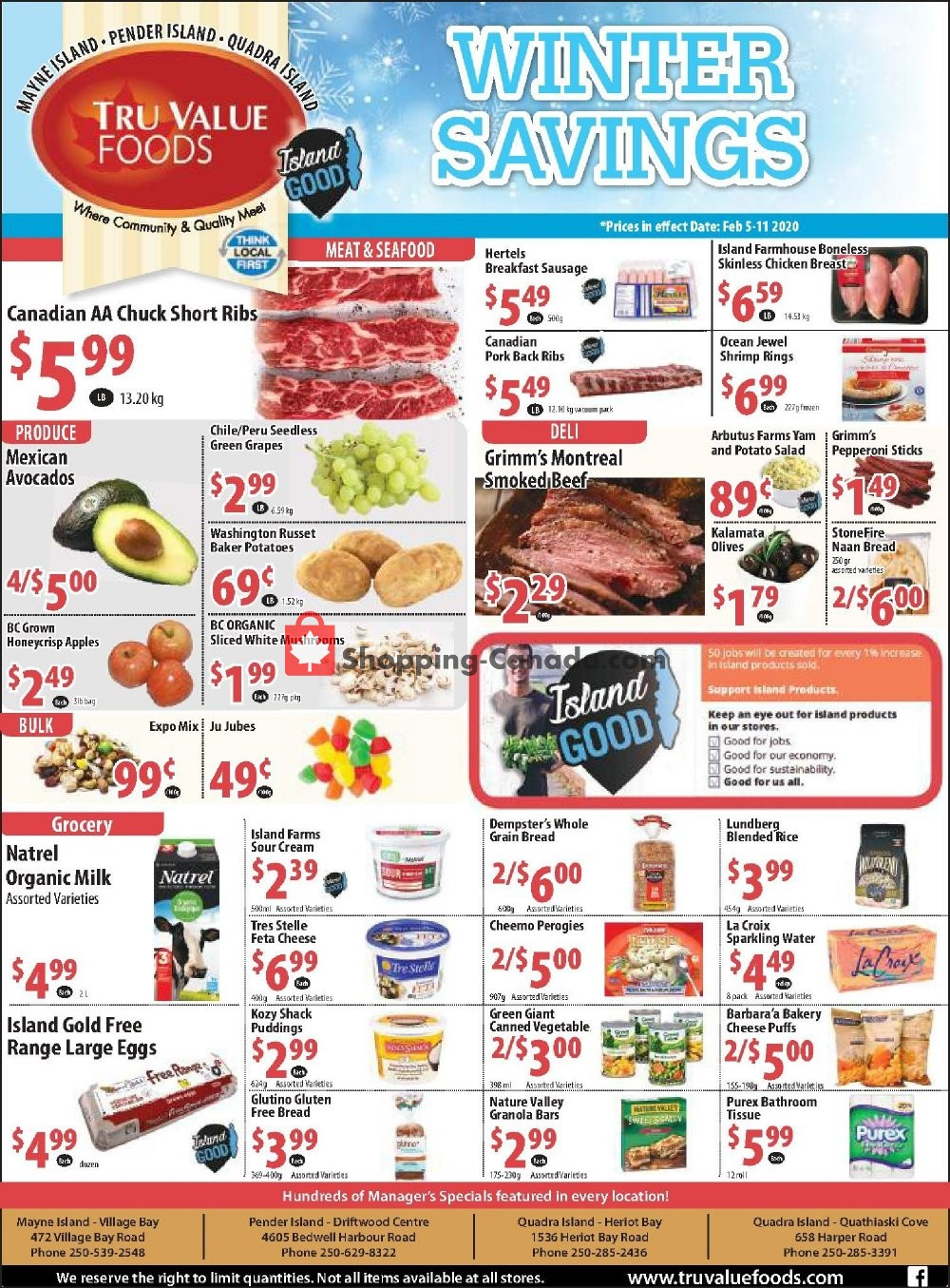 Flyer Tru Value Foods Canada - from Wednesday February 5, 2020 to Tuesday February 11, 2020
