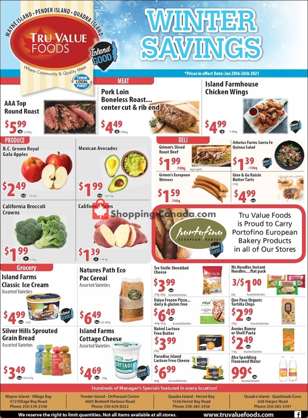 Flyer Tru Value Foods Canada - from Wednesday January 20, 2021 to Tuesday January 26, 2021