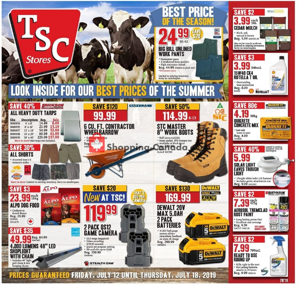 Flyer and weekly ads: TSC Stores Canada - (Best Price of The