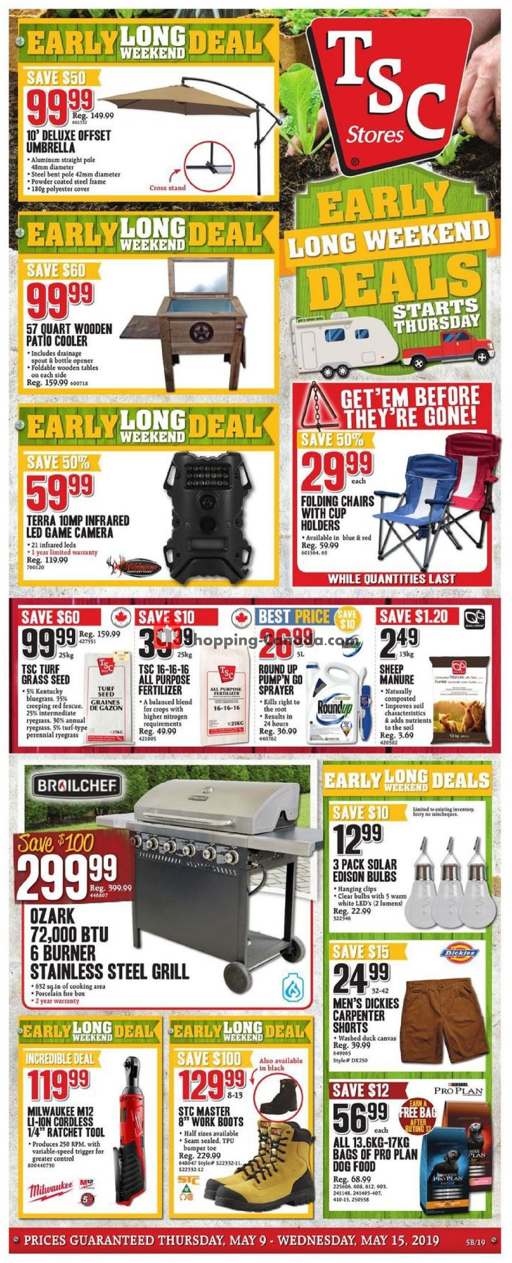 Flyer TSC Stores Canada - from Thursday May 9, 2019 to Wednesday May 15, 2019