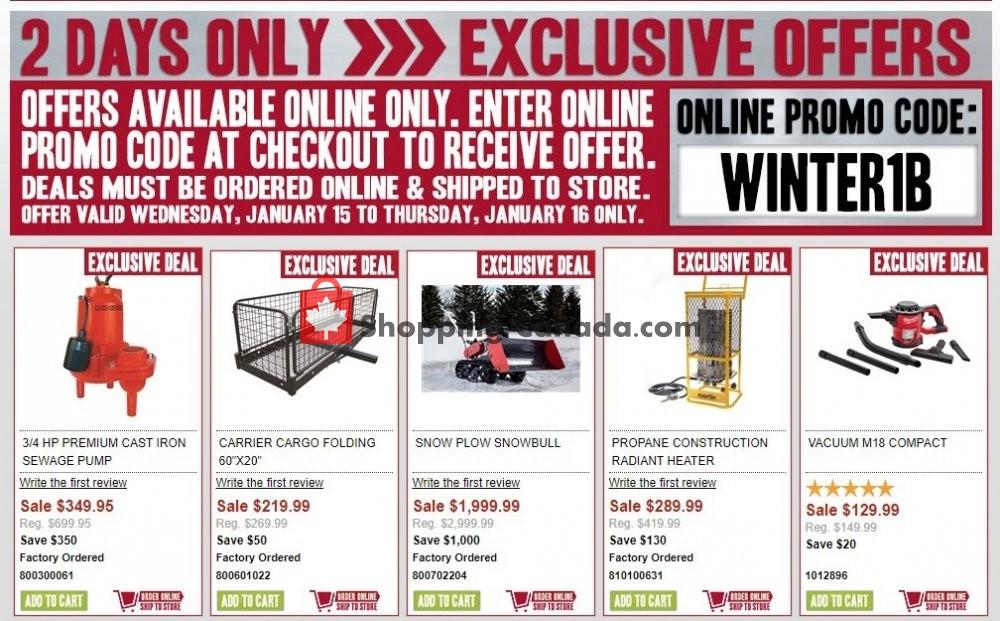 Flyer TSC Stores Canada - from Wednesday January 15, 2020 to Thursday January 16, 2020