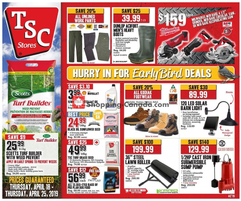 Flyer and weekly ads: TSC Stores Canada - (Hurry in for