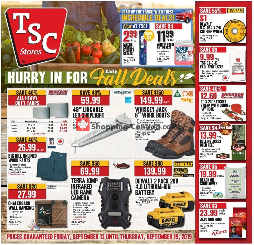 Flyer TSC Stores Canada - from Friday September 13, 2019 to Thursday September 19, 2019